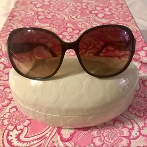 "COACH sunglasses | ""Milly"", tortoise & pink"